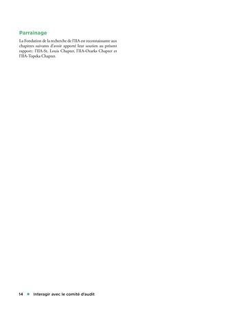 Interagir avec le comité d'audit page 14