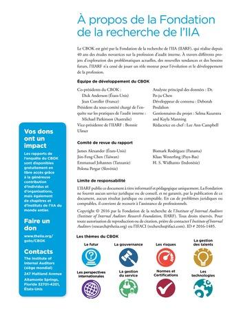 Interagir avec le comité d'audit page 16