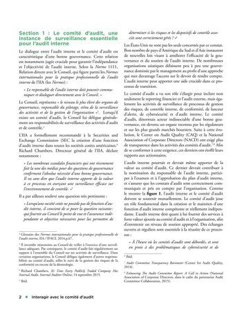 Interagir avec le comité d'audit page 2
