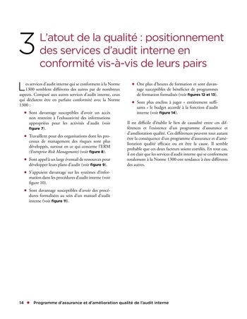 Programme d'assurance et d'amélioration qualité de l'audit interne page 14