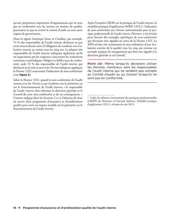 Programme d'assurance et d'amélioration qualité de l'audit interne page 16