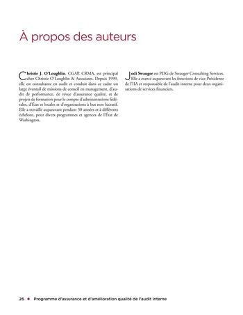 Programme d'assurance et d'amélioration qualité de l'audit interne page 26