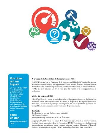 Programme d'assurance et d'amélioration qualité de l'audit interne page 28