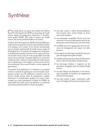 Programme d'assurance et d'amélioration qualité de l'audit interne page 4