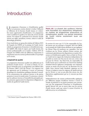 Programme d'assurance et d'amélioration qualité de l'audit interne page 5