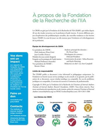 Recours aux services de tiers pour les activités d'audit interne page 12