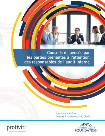 Conseils dispensés par les parties prenantes à l'attention des responsables de l'audit interne page 1