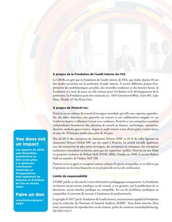 Conseils dispensés par les parties prenantes à l'attention des responsables de l'audit interne page 12