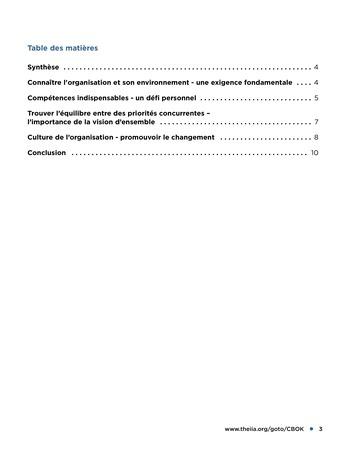 Conseils dispensés par les parties prenantes à l'attention des responsables de l'audit interne page 3