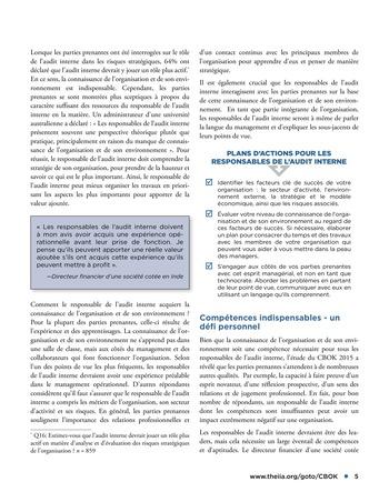 Conseils dispensés par les parties prenantes à l'attention des responsables de l'audit interne page 5