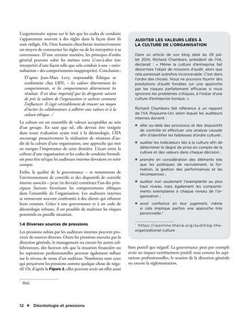 Déontologie et pressions page 12
