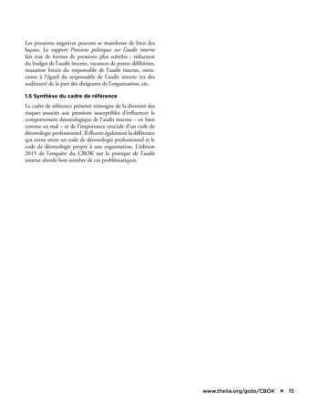 Déontologie et pressions page 13