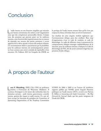 Déontologie et pressions page 31
