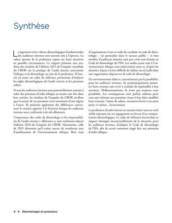 Déontologie et pressions page 4