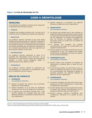 Déontologie et pressions page 7