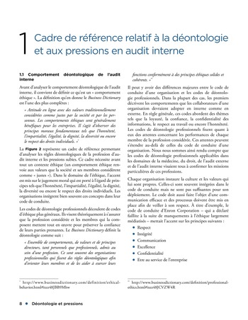 Déontologie et pressions page 8