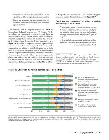 Assurance combinée: une même terminologie, une même voix, une même vision page 11