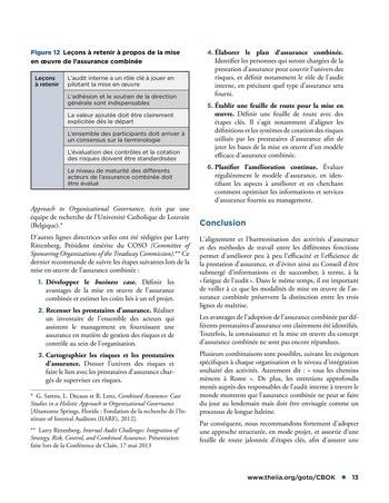 Assurance combinée: une même terminologie, une même voix, une même vision page 13