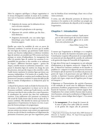Assurance combinée: une même terminologie, une même voix, une même vision page 2