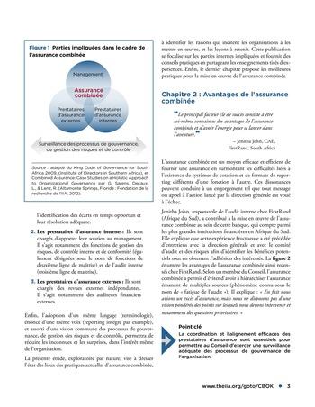 Assurance combinée: une même terminologie, une même voix, une même vision page 3