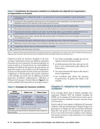 Assurance combinée: une même terminologie, une même voix, une même vision page 4