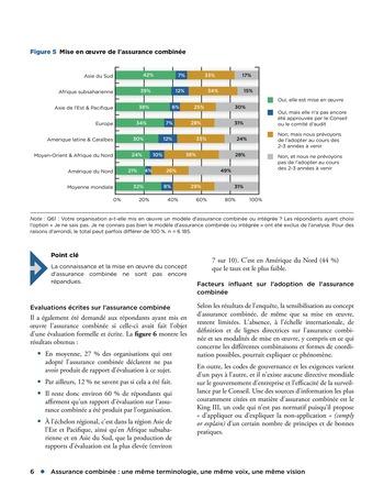 Assurance combinée: une même terminologie, une même voix, une même vision page 6