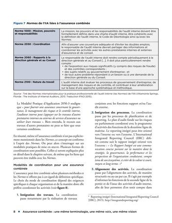 Assurance combinée: une même terminologie, une même voix, une même vision page 8