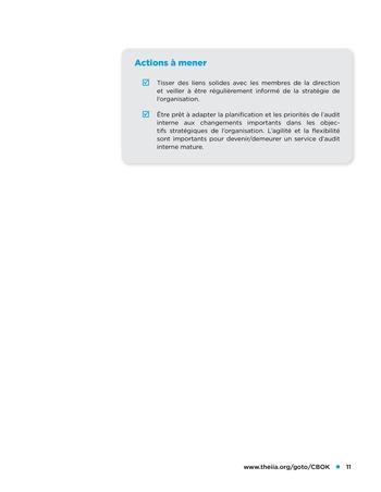 Etude comparative de la maturité de l'audit interne page 11