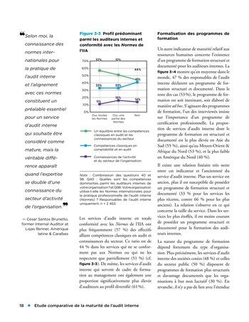 Etude comparative de la maturité de l'audit interne page 18