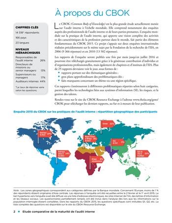 Etude comparative de la maturité de l'audit interne page 2
