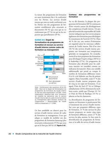 Etude comparative de la maturité de l'audit interne page 20