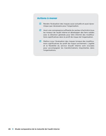 Etude comparative de la maturité de l'audit interne page 26
