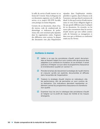 Etude comparative de la maturité de l'audit interne page 30