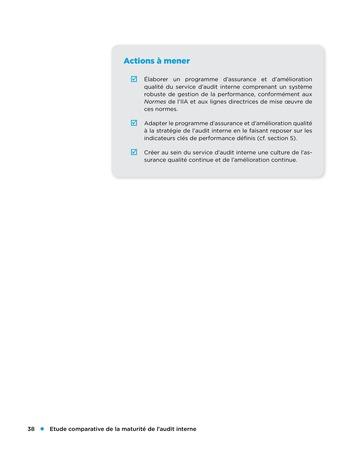 Etude comparative de la maturité de l'audit interne page 38