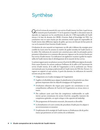 Etude comparative de la maturité de l'audit interne page 4