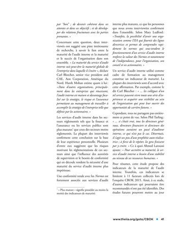 Etude comparative de la maturité de l'audit interne page 41