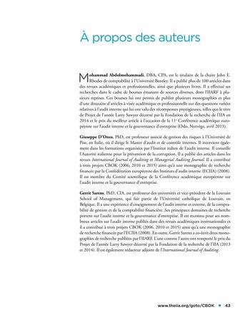 Etude comparative de la maturité de l'audit interne page 43