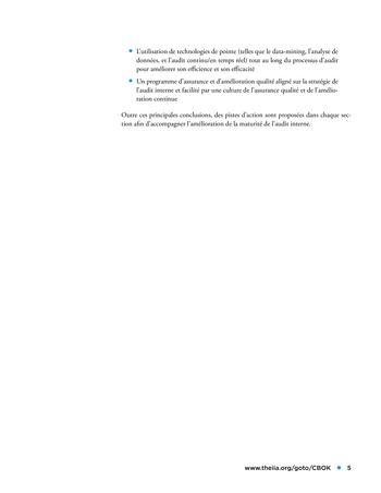 Etude comparative de la maturité de l'audit interne page 5