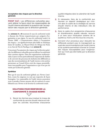 Tendances relatives aux normes d'audit interne page 15