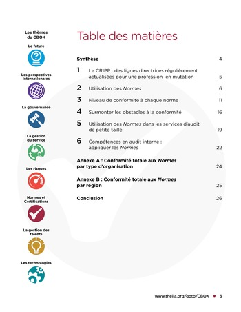 Tendances relatives aux normes d'audit interne page 3