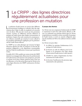 Tendances relatives aux normes d'audit interne page 5