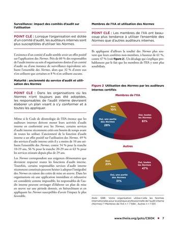Tendances relatives aux normes d'audit interne page 7