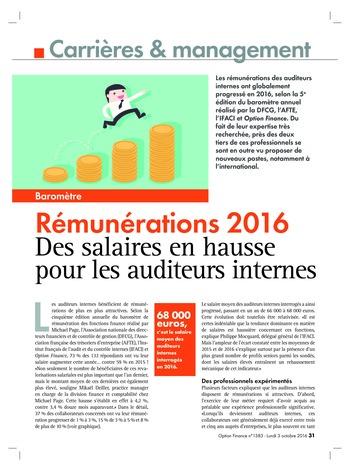 Etude rémunération 2016 page 1