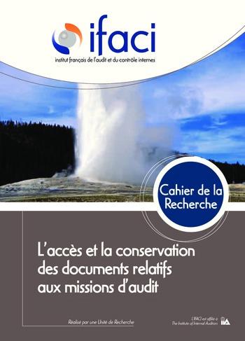 L'accès et la conservation des documents relatifs à la mission d'audit page 1