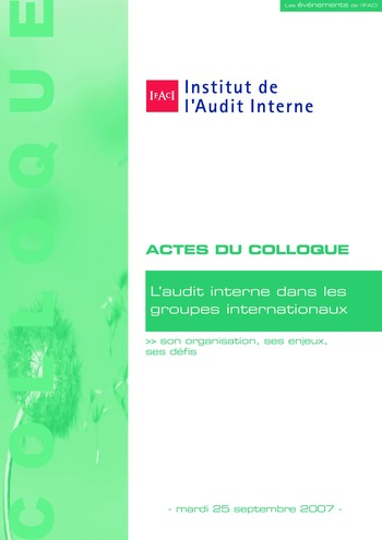 L'audit interne dans les groupes internationaux page 1