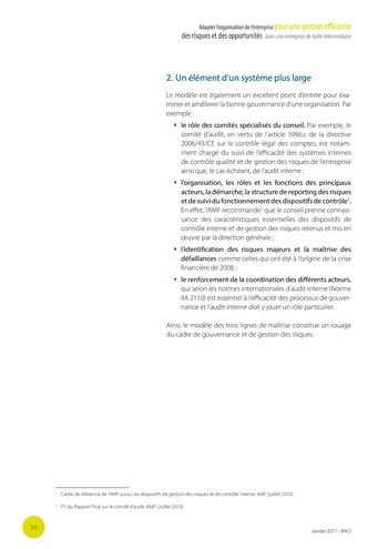 Adapter l'organisation de l'entreprise pour une gestion efficiente des risques et des opportunités dans une entreprise de taille intermédiaire page 11