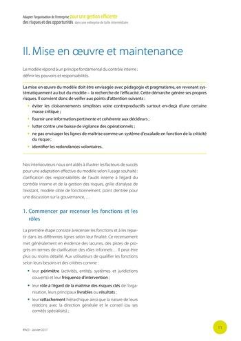 Adapter l'organisation de l'entreprise pour une gestion efficiente des risques et des opportunités dans une entreprise de taille intermédiaire page 12