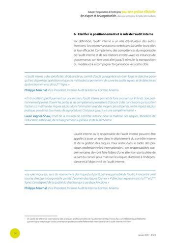 Adapter l'organisation de l'entreprise pour une gestion efficiente des risques et des opportunités dans une entreprise de taille intermédiaire page 15