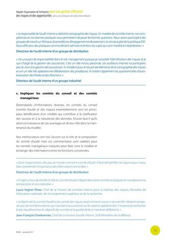 Adapter l'organisation de l'entreprise pour une gestion efficiente des risques et des opportunités dans une entreprise de taille intermédiaire page 16