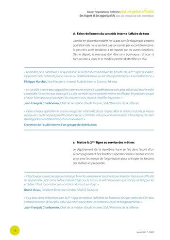 Adapter l'organisation de l'entreprise pour une gestion efficiente des risques et des opportunités dans une entreprise de taille intermédiaire page 17